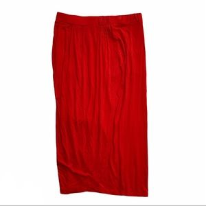 A NEW DAY red wrap style skirt size XXL
